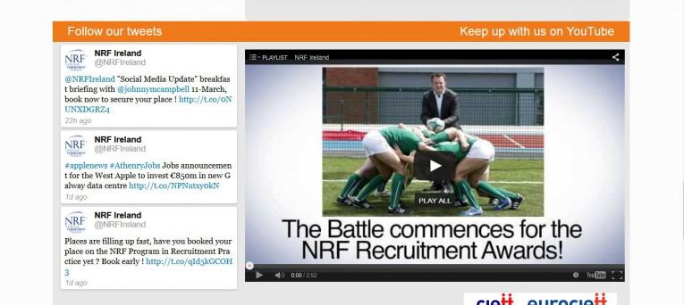 NRF wordpress website created by the Irish website developer and designer Smiling Spiders