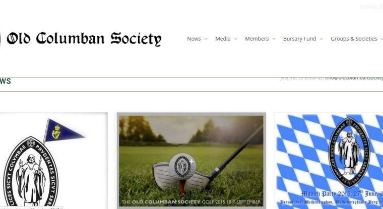Old Columban society-Smiling Spiders Web design and website development