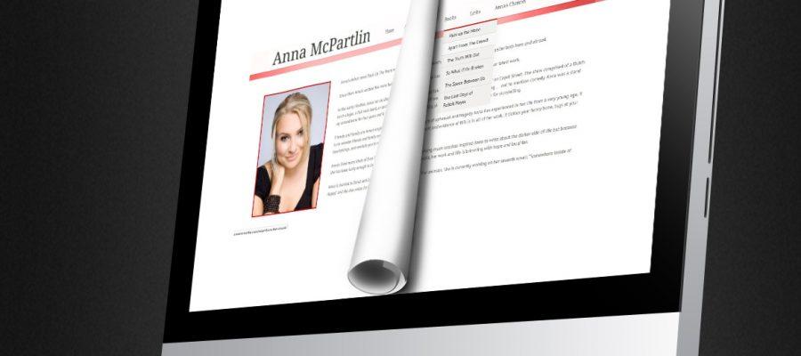 wordpress website design in dublin and wordpress website development in dublin by smiling spiders for Anna McPartlin