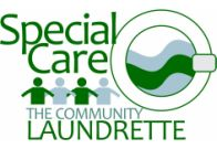 webs design logo for the community launderete
