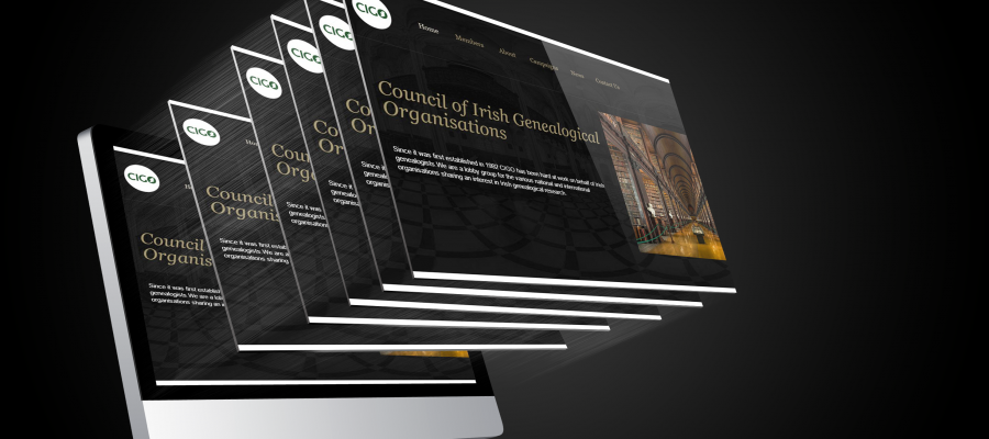 website design and website for Council of Irish Genealogical Organisations (CIGO)